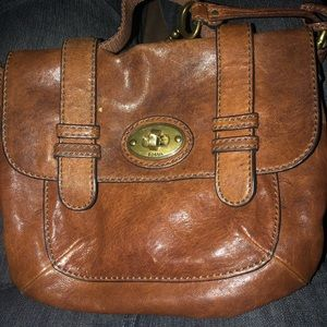 Small Leather Fossil crossbody Purse